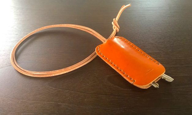 【土屋鞄京都店10周年記念】限定色ほうじ茶モチーフの金茶を使ったキーケース作ってきました!
