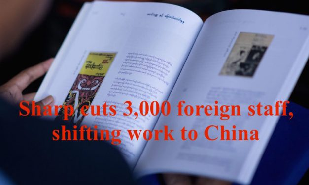 Sharp cuts 3,000 foreign staff, shifting work to China