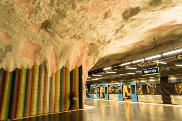 【ストックホルム地下鉄アート】Mörby Centrum