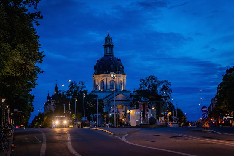 再び渡瑞したいスウェーデンマニアが最も愛するストックホルムの夜景 Odenplan
