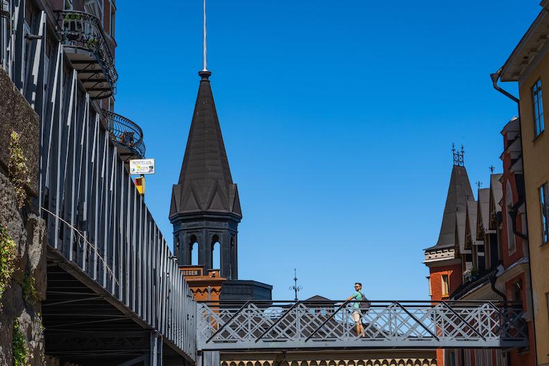 【街歩き】絶景の丘直前にある歴史ある建物 Mariahissen の裏が凄い!